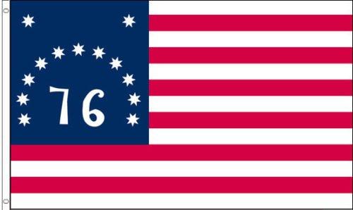 3x5 FT Polyester US AMERICAN BATTLE 1776 BENNINGTON USA 76 HISTORIC FLAG (Flag 1776 Bennington)
