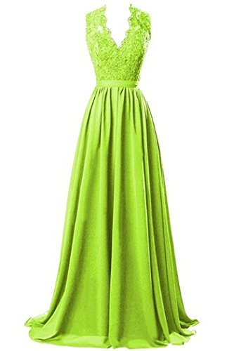 CoutureBridal - Vestido - corte imperio - para mujer Verde