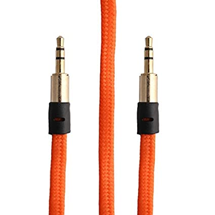 eDealMax Nylon reproductores de MP3 3.5mm Macho a la cuerda del Cable de extensión Audio