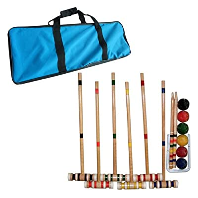 Trademark Global Croquet Set with Carrying Case- Various Licenses | Computers