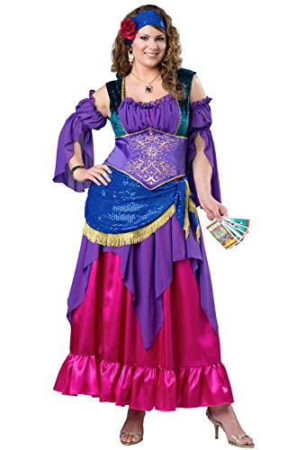 Miss Fortune Gypsy Costumes - Gypsy Treasure Fortune Teller Women Plus