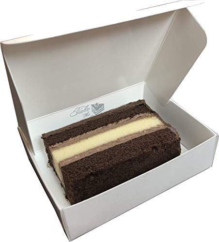 Small Food Service Approved Cake Boxes for CATERER's Slices Measuring up to 4-1/2