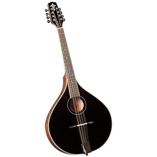 Trinity College TM-325B Standard Celtic Octave Mandolin with Hardshell Case - Black Top by Trinity College