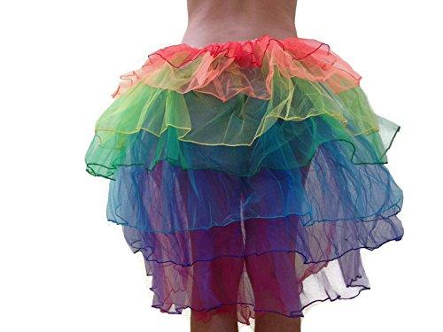 [Rush Dance Women's Costume Ballet Warrior Dash Run Adult Tutu (Adult, Rainbow Bustle)] (Plus Size Ballerina Costumes)