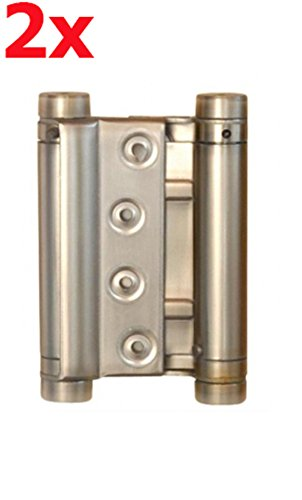 2 x Acero 75 mm Saté n Cover colgante Puerta Banda colgante Puerta Bisagra para puerta oscilante Sonico