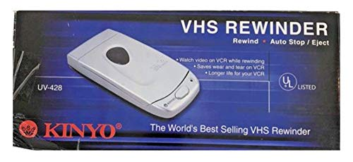 Kinyo UV-428 VHS Video Cassette Tape Rewinder VCR Auto Stop Soft Eject ()