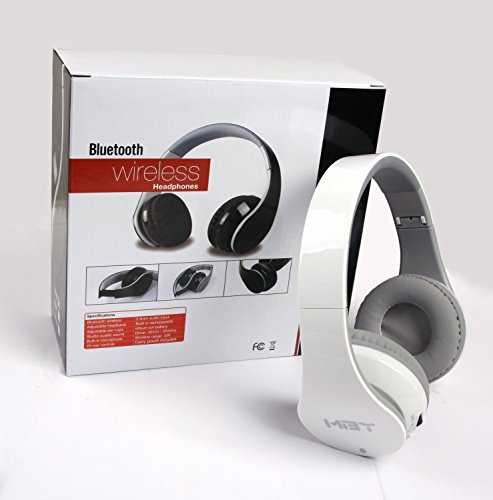 New White Bluetooth Headphone with NFC function, work for Samsung Android smart cell phone; Apple Phone and almost all Tablet PC