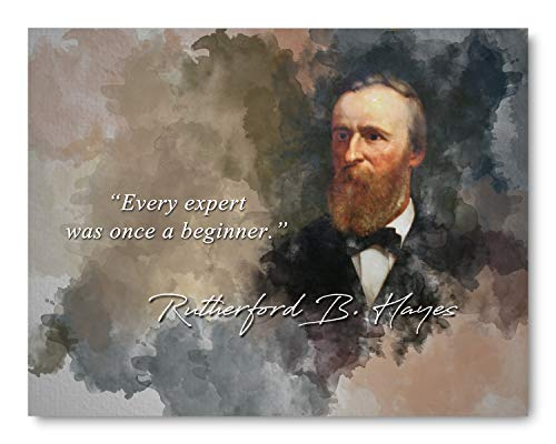 ford B. Hayes Expert Beginner Inspirational Quote - 8 x 10 Unframed Print - Wall Art Bedrooms, Offices, Living Rooms, Classrooms ()