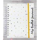 Caderno Bullet Journal com Aba A5 - Simplesmente (300 páginas 90g, Pontilhado)
