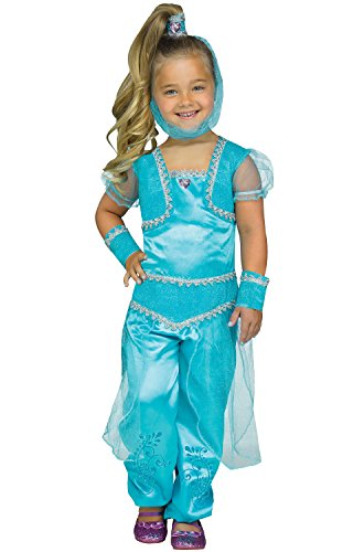 Toddler Aqua Glimmer Genie Costume size XL (Genie In A Bottle Costume For Halloween)
