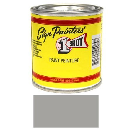 One Shot Lettering Enamel - 1/2 Pint 1 Shot Medium Gray Paint Lettering Enamel Pinstriping & Graphic Art