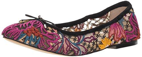 Shoes Designer Wear - Sam Edelman Women's Felicia Ballet Flat Bright Multi Floral Chintz lace 9 M US