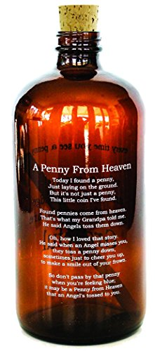 Studio Penny Lane A Penny From Heaven Poem Amber Apothecary Jar