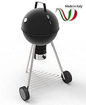Ferraboli – 220 bola barbacoa carbón vegetal de acero rejilla 45 cm Made in Italy