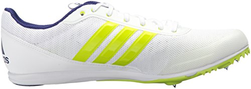Adidas Mens Distancestar Track Shoe Bianco / Zero Metallico / Melma