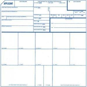 Amazon com : Official Fingerprint Cards, Applicant FD-258, 5