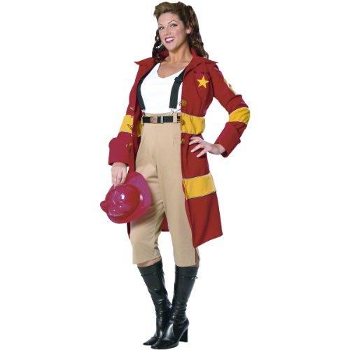 Fire Belle Fireman Girl (Firewoman) Adult Costume Size 26-28 XXX-Large (XXXL)