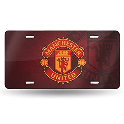 AQC16FC Football Team Decorative Car Front License Plate,Vanity Tag,Metal Car Plate,Aluminum Sports Fan License Plate Covers,6x12 Inch (4 Holes)