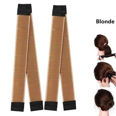 2pcs Accesory of Blonde Synthetic Modern Wig Bun Style Shapers Maker for Hair by ENERGI8_ZQ