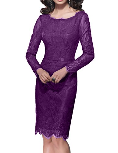 Kleid spitze knielang langarm