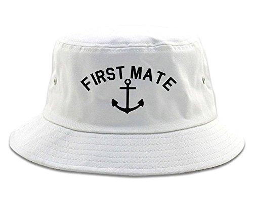 (Sailing First Mate Anchor Mens Bucket Hat Cap)