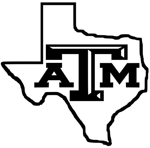 Texas A M Aggies Lone Star Vinyl White Sticker 9Width By 8 5 Height