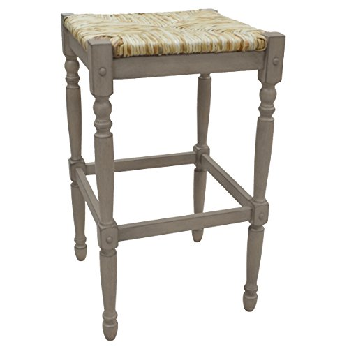 (Carolina Chair & Table 2663-RTA-WG Hawthorne bar Stool Weathered Gray)