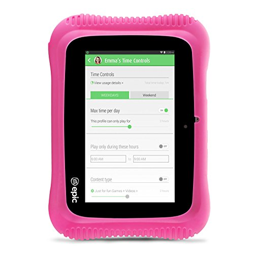 LeapFrog Epic Academy Edition 7'' Android 2.0 Based Kids Tablet 16GB with Carrying Case, Pink by LeapFrog (Image #3)