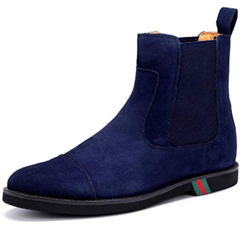 Scarpe da Uomo Scarpe Alte Casual Casual Moda Trend Comfort Resistente all'Usura,Blue-38