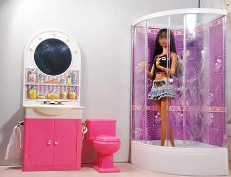 Vasca Da Bagno Barbie : Bagno di barbie vintage completo di scatola ed accessori ebay