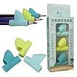 SUKEQ Pen Grip, Ergonomic Training Children Pencil Holder Pen Writing Aid Grip Posture Correction Tool Device for Leftie, 3PCS/Set, Assorted Colors