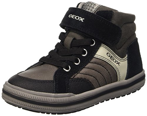 a Hi Top Sneakers Dk Grey Geox Elvis Blackc0062 Grey Jr Boys' IUxXOqFt