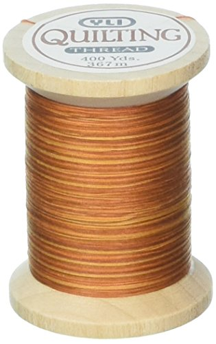 (YLI 21104-V88 Variegated Cotton Hand Quilting Thread, 400 yd, Gold )