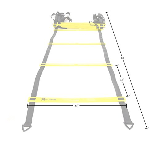 Premium Agility Speed Ladder - 13' Long with 12 Adjustable Rungs, Ideal for Soccer/Football, Basketball, Hockey, Speed Training, Kids, Coaches and All Sports. Convenient Carry/Storage Bag Included. by Xtreme Sport DV (Image #4)