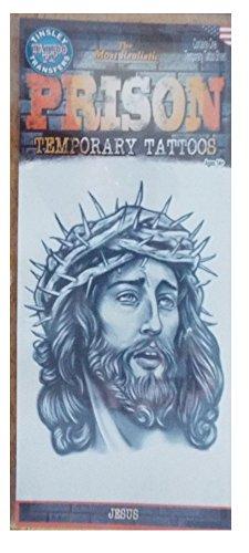 Prison Design Temporary Tattoo- Jesus ()