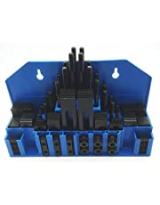 """HHIP 3900-2110 58 Piece 3/8"""" T-Slot Clamping Kit with 5/16-18 Stud and 3/8"""" T-Nut"""