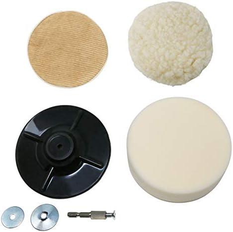 [スポンサー プロダクト]角利サンドリー ポリッシャー4点セット 羊毛&コールテンボンネット+ラバーパッド+スポンジ SDR-16