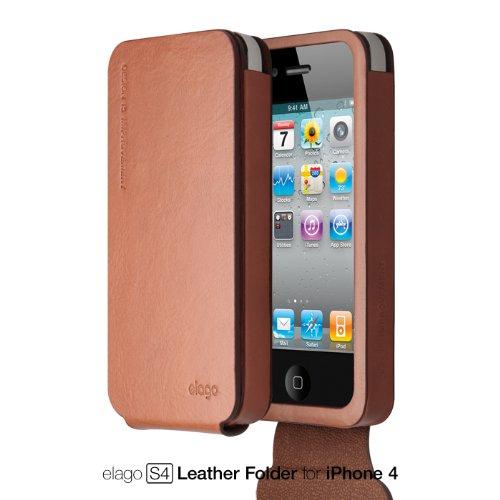 Elago S4 Handmade Genuine Leather for iPhone 4/4S (Folder...