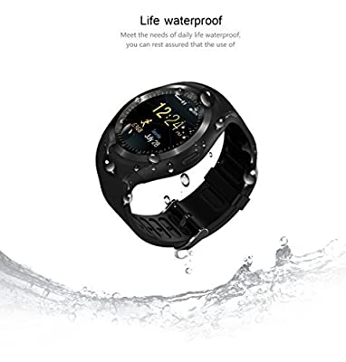 Mostall Bluetooth Smart Watch,IPS Round Touch Screen Water Resistant Smartwatch Phone with SIM Card Slot,Multi-function for IOS and Android Device