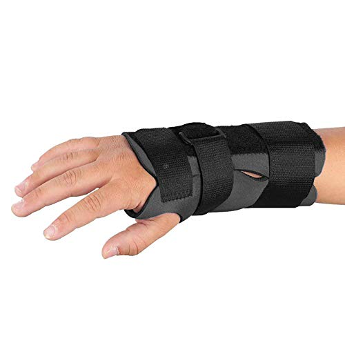 (Sammons Preston Breathoprene Pediatric Wrist Splint, Right, Large, Orthopedic Support Brace for Tendonitis, Inflammation, Carpal Tunnel, Thumb Injuries & Pain, Breathable & Comfortable Compression)