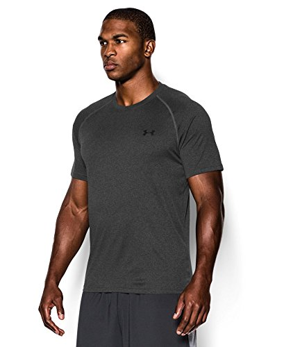 Under Armour Men's Tech Short Sleeve T-Shirt, Carbon Heather /Black, XXX-Large Tall by Under Armour (Image #2)
