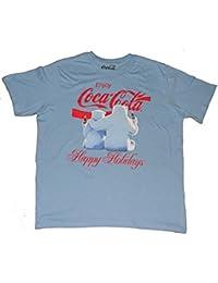 Christmas Polar Bears Blue Graphic T-Shirt