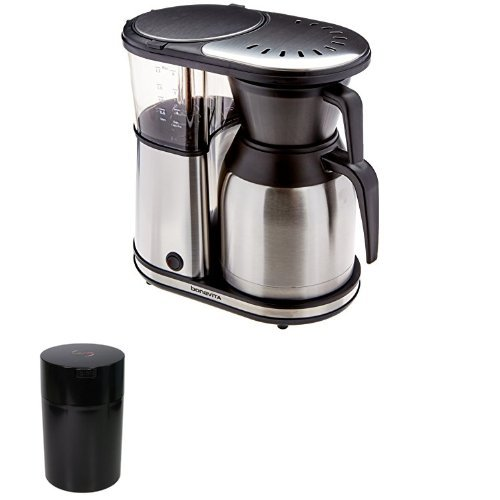 8-cup Coffee Brewer and 1lb Vacuum-Seatled Coffee Container