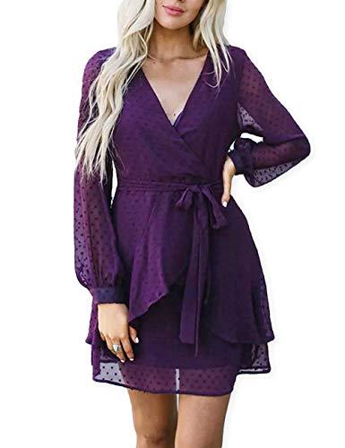 Womens Cheap Fancy Dress - AOOKSMERY Women Cute V Neck Long