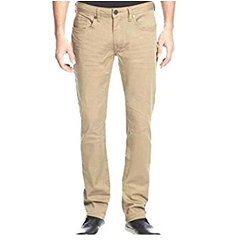 Buffalo David Bitton Mens Sam-X Slim Straight Stretch Jeans (34x32, Tan) (Pants Jeans Tan)