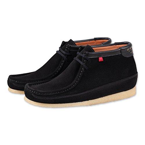 Boot Uomo Black Sneaker classici Lederstiefel Kurzschaft Herren DjinnsGenesis Stiefel High Stivali qzwYvF7