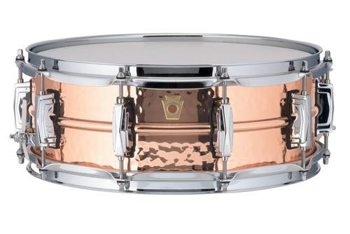 Ludwig Copper Phonic Hammered Snare Drum 14 x 5 in. Copper Finish with Imperial Lugs by Ludwig