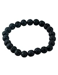 GraceAngie Men Women 8mm Lava Rock Beaded Bracelet Multi-Color Chakra Healing Energy Stone Gemstone Bracelet