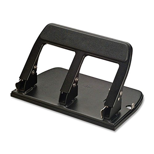 Officemate Heavy Duty 3 Hole Punch with Padded Handle, 40-Sheet Capacity, Black (90089) (Limited Edition) by Officemate.