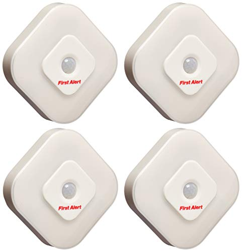 First Alert SFA265 Indoor Motion Sensor LED Lights, 4 Pack